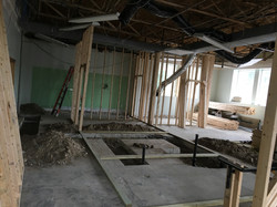 Rough plumbing and framing going in at PMAH in Acton MA