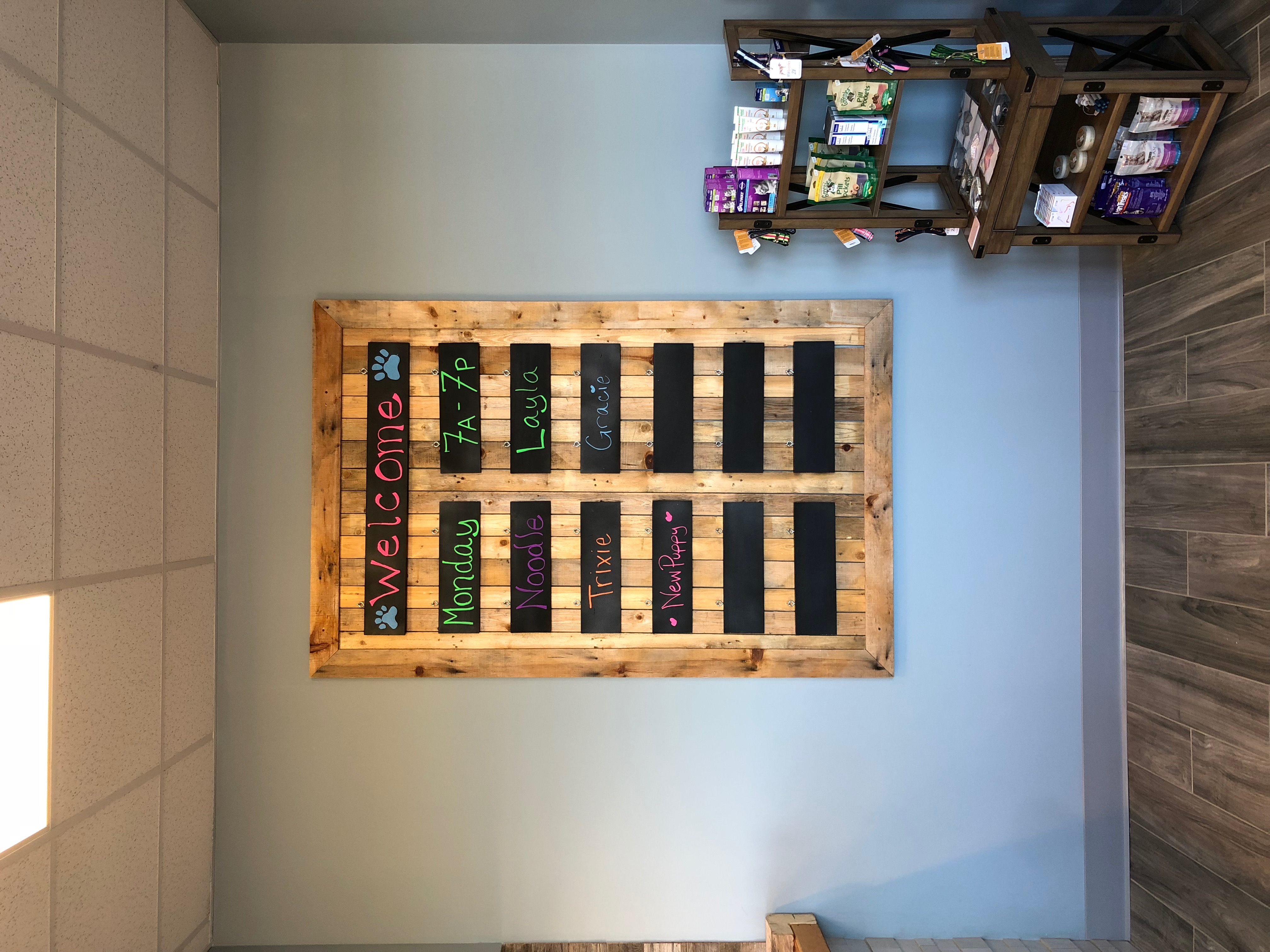 Reclaimed wood appointment sign | PMAH Acton Concord MA