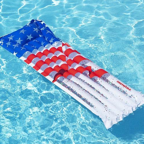 Swimline Americana Glitter Mattress
