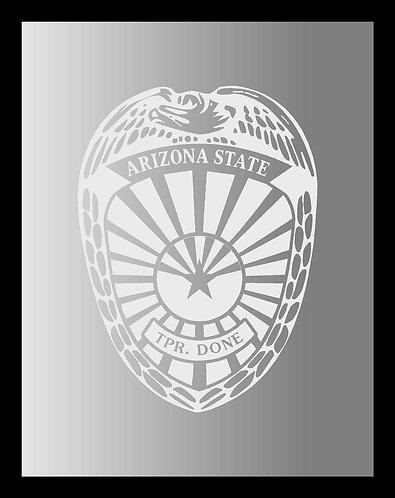 Trooper Badge Mirror