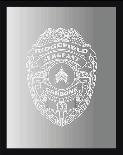 Police Badge Mirror