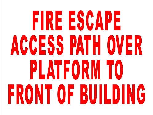 Fire Escape Platform