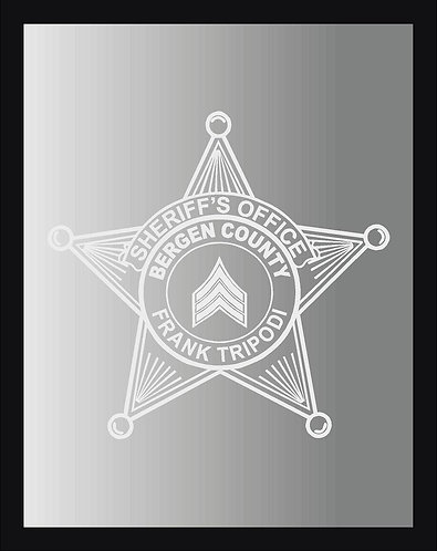 Sheriff Badge Mirror