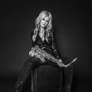 Mindi Abair and her Saxophone B and W