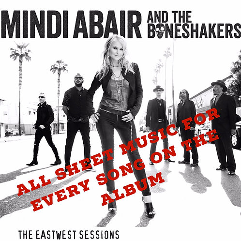 Sheet Music - Mindi Abair & The Boneshakers EastWest Sessions