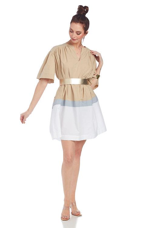 Ottod'Ame Flared Poplin Mini Dress