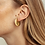 Thumbnail: SOKO Ripple Disc Hoop Earring