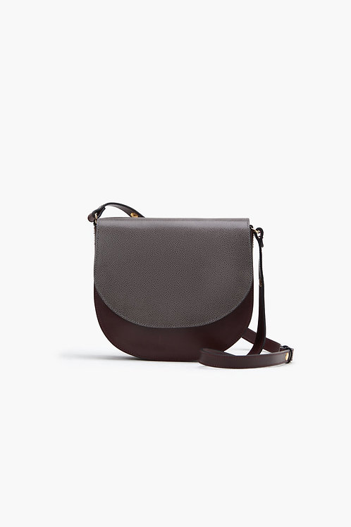 CLOSED Leather Mix Saddle Bag