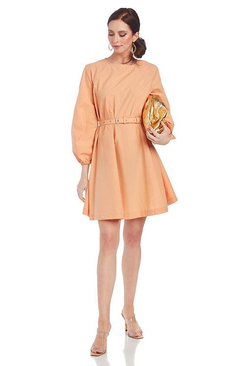 Ottod'Ame Poplin Dress with Belt