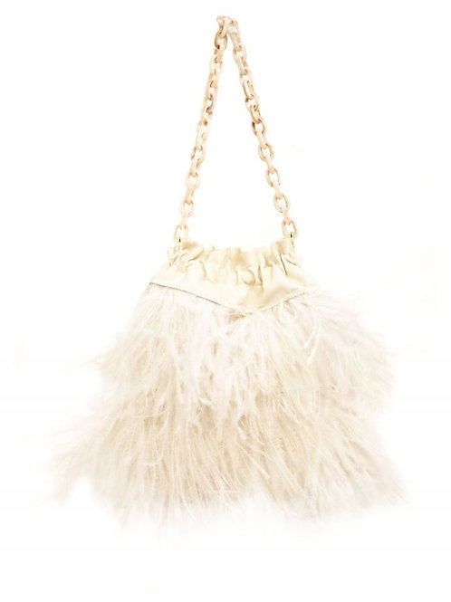 Beatrice b Feather Mini Bag