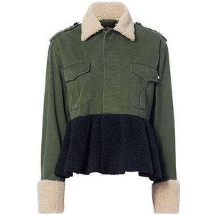 Harvey Faircloth Shearling Peplum Field Jacket