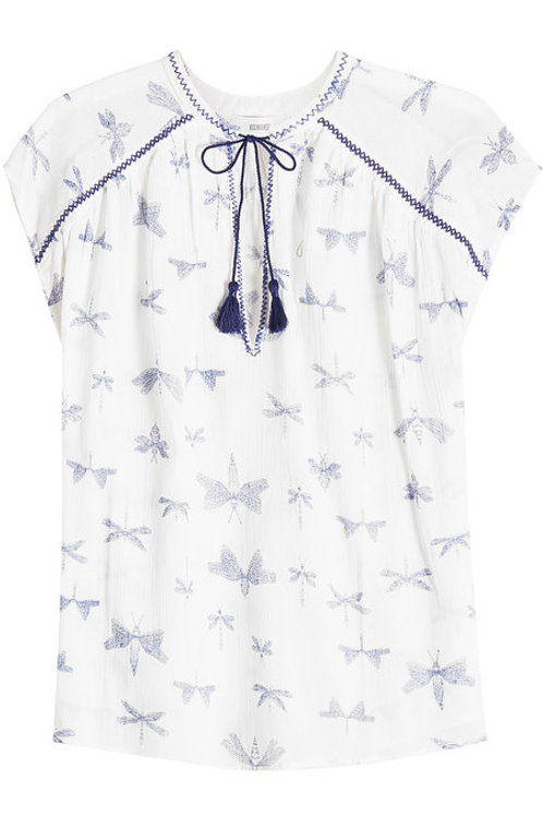 CLOSED Dragonfly Print Blouse