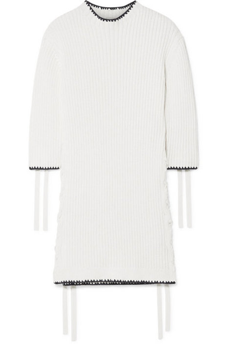 By Malene Birger Lace Up Sweater