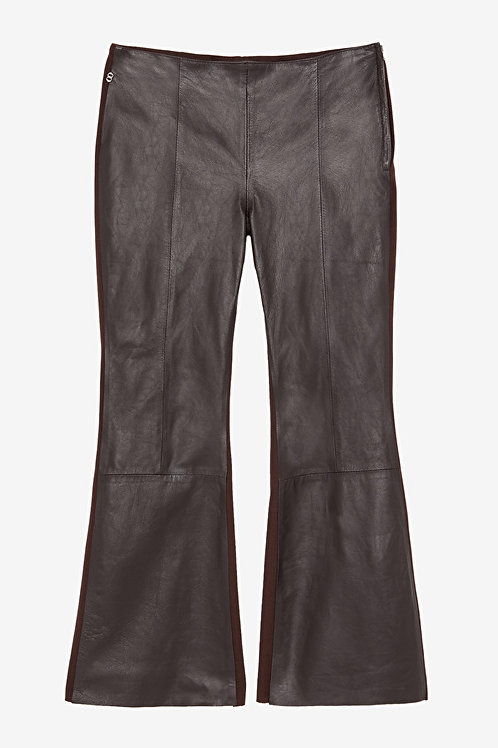 Ottod'Ame Leather Flare Trousers