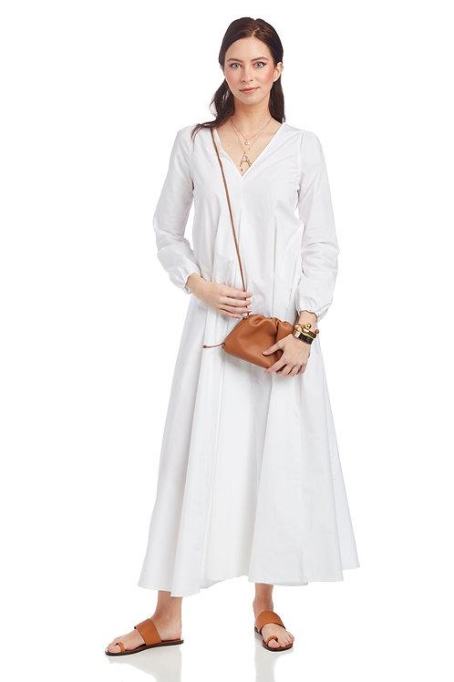 Ottod'Ame Oversized Poplin Long Dress