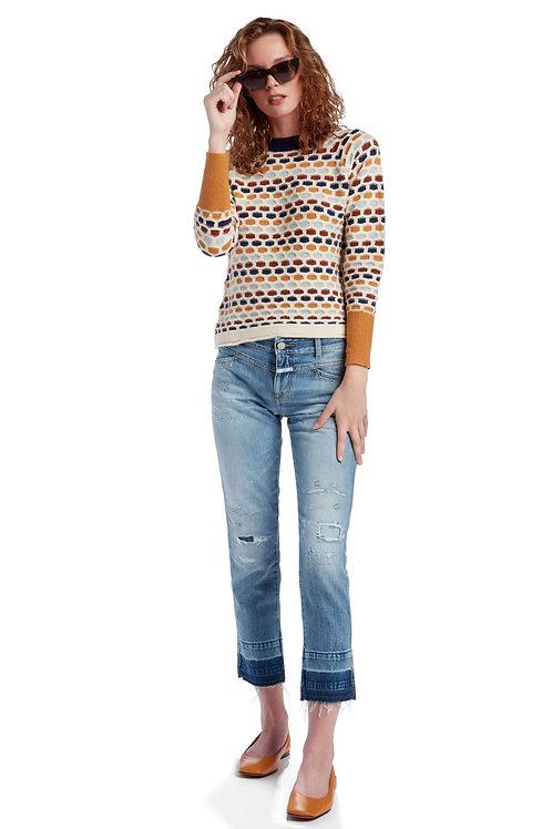 SUNCOO Honeycomb Sweater