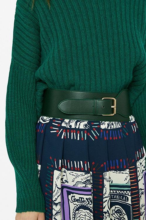 Ottod'ame Leather High Waist Belt