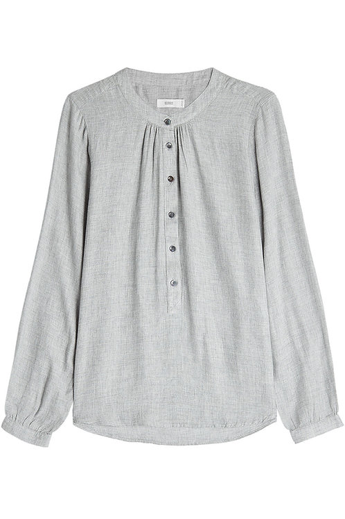 CLOSED Viscose Blouse with Herringbone Pattern