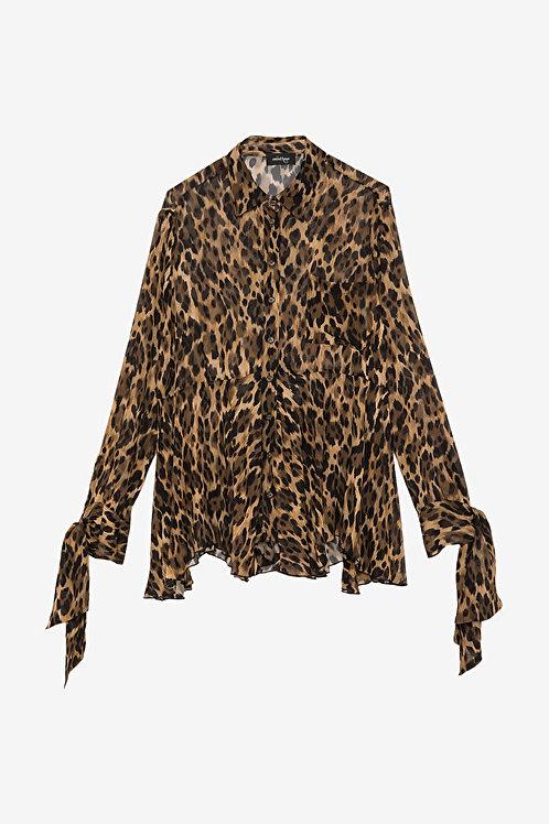 ottod'Ame Leopard Print Blouse