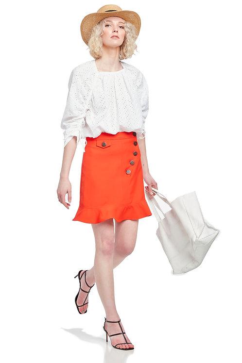 SUNCOO Felicie Ruffle Skirt