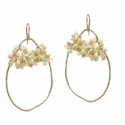 Hammered Ovals Earrings
