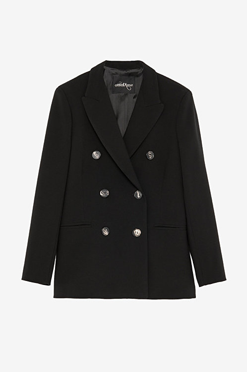 ottod'Ame Double-Breasted Midi Blazer