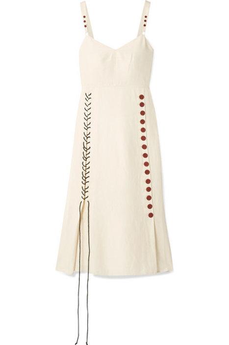 By Malene Birger Lace Up Dress