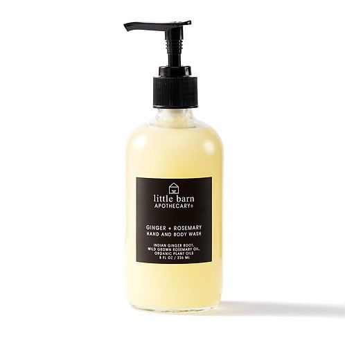 Little Barn Apothecary Ginger + Rosemary Hand & Body Wash