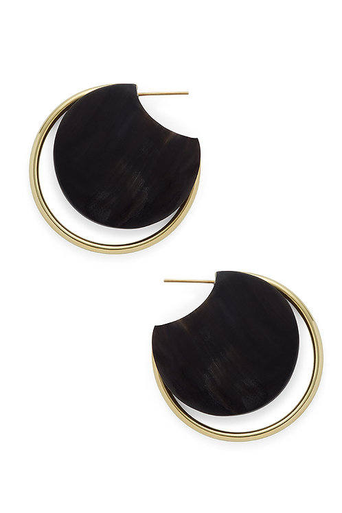 SOKO Horn Eclipse Circle Hoops