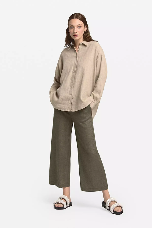 Ottod'Ame Linen Cropped Trousers