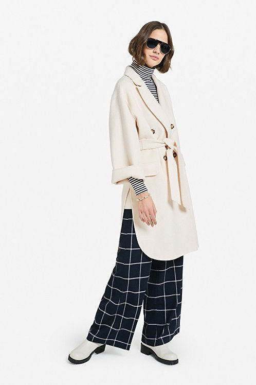 Ottod'ame Double Breasted Coat w/ belt