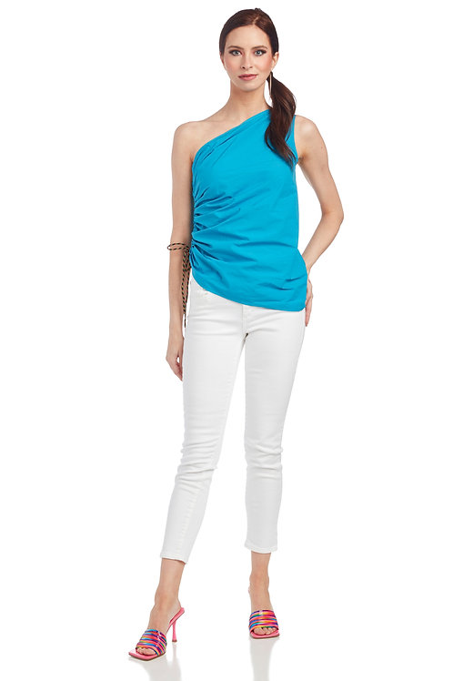 Ottod'Ame Poplin Top with Drawstring