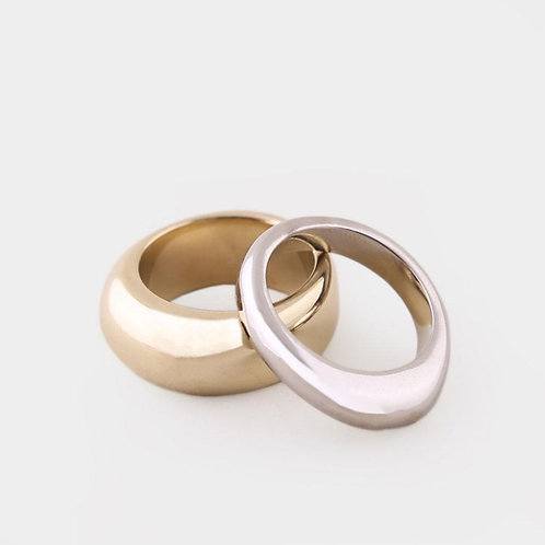 SOKO Organic Mixed Metal Stackable Rings