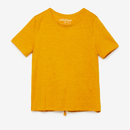 Ottod'Ame Linen Top with Keyhole Tie Back