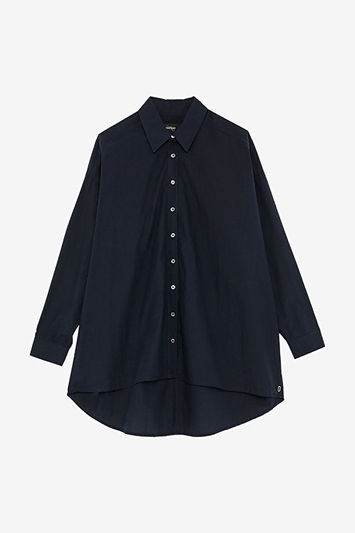 ottod'Ame Cotton Shirt with Asymmetric Bottom