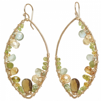 Hammered Marquis Shape Earrings