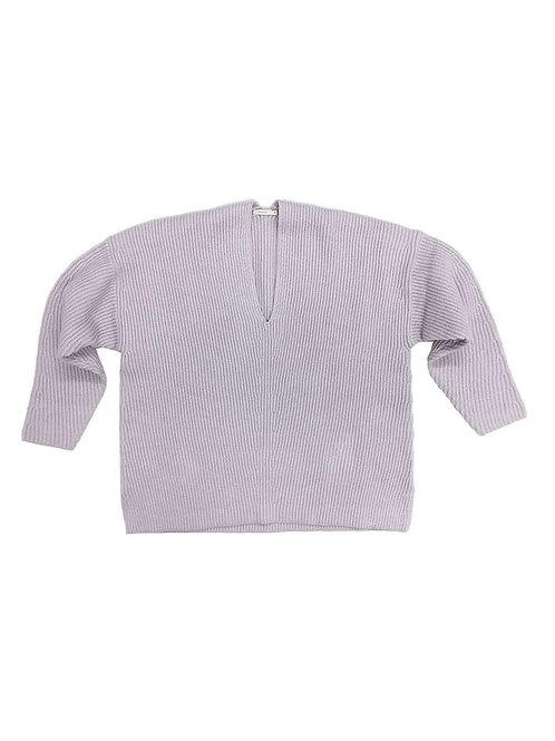 6397 Chevron V Neck Sweater