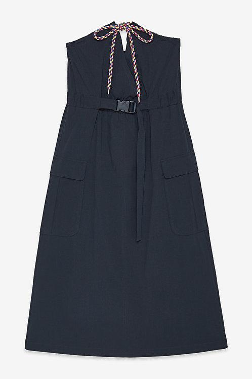 Ottod'Ame Cotton Midi Dress with Belt
