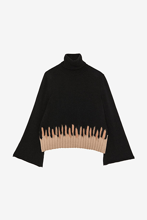 Ottod'Ame Flared Sleeve Sweater