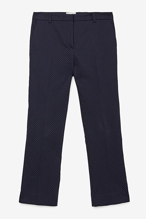 Ottod'Ame Micro Polka Dots Cotton Cigarette Trousers