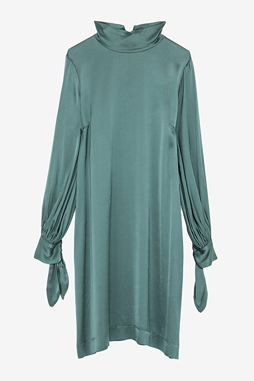 ottod'Ame Viscose Dress with Polo Neck