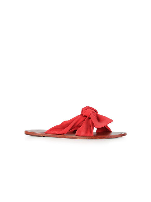 Intropia Bow Suede Sandal
