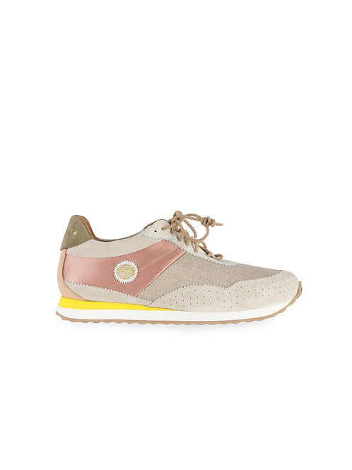Intropia Leather & Linen Trainer