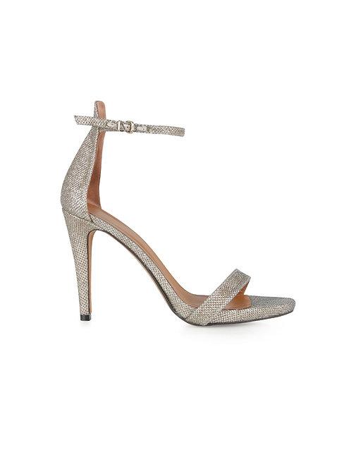 Intropia Metallic Heeled Sandal