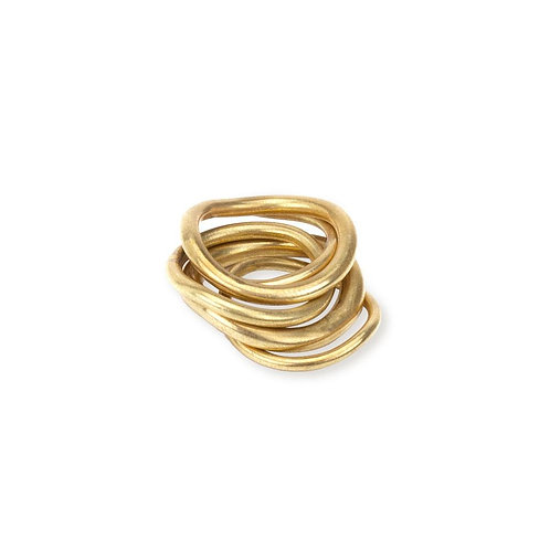 SOKO Wavy Ring Stack