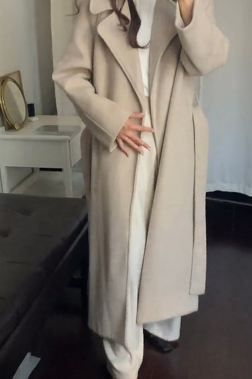 Wool Belted Long Coat