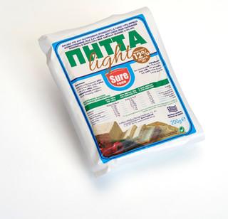 FLV200   Pitta Light S&G White Cheese  V