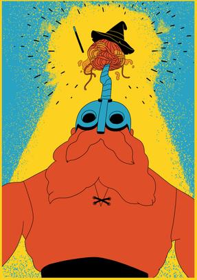 Knut VS spaghetti wizard  Knut in a fight with a spaghetti wizard