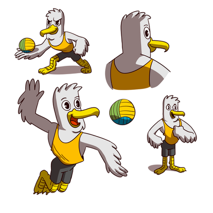 Vollyball mascot SPIKE  We designed and animated the mascote SPIKE for the European Championship Beachvollyball