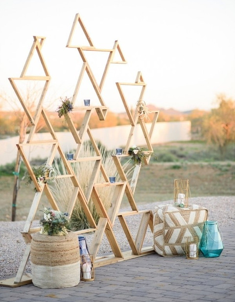 Modern Ceremony Backdrops For Outdoor Weddings